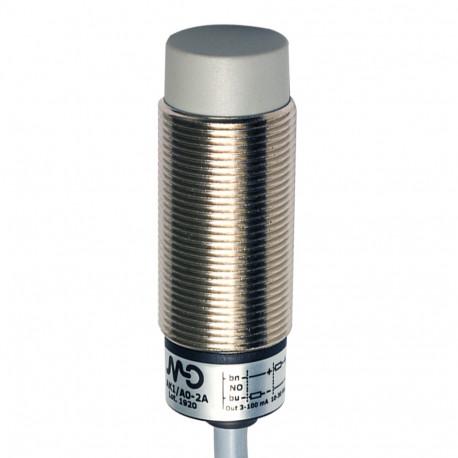 Inductivo 2/D18 detección 8mm cable 2m no Enrasable